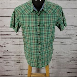 Lucky Brand Green Plaid Button Down